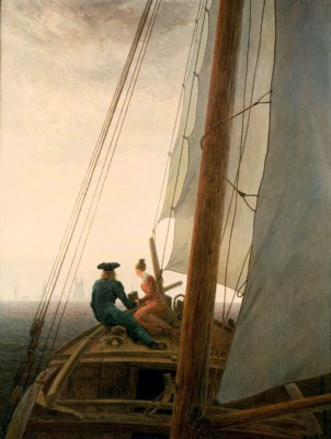 On the Sailing ship - Caspar David Friedrich