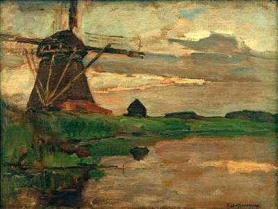 Oostzijder Mühle - Piet Mondrian