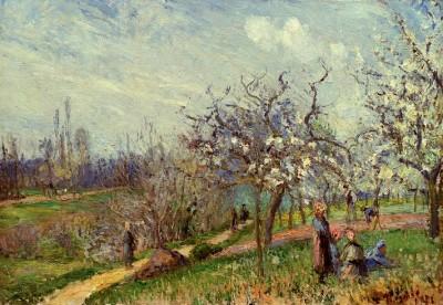 Orchard in Blossom - Camille Pissarro