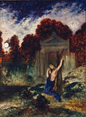 Orpheus at the grave of Eurydice - Gustave Moreau