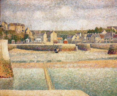 Outer harbour of Port-en-Bessin at low tide - Georges-Pierre Seurat