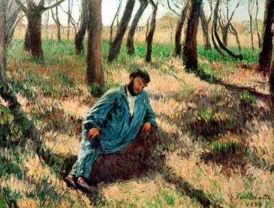 Père Magloire lying in the woods - Gustave Caillebotte