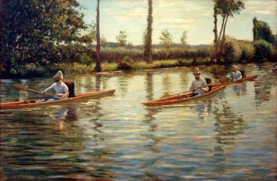 Paddle boats - Gustave Caillebotte