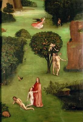 PARADISE - left inside panel of the Last Judgement triptych - Hieronim Bosch