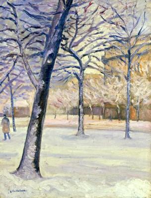 Parc sous la Neige, Paris - Gustave Caillebotte