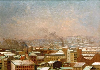 Paris im Snow - Gustave Caillebotte