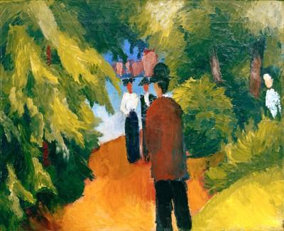 Park am Wasser (Mann im Park) - August Macke