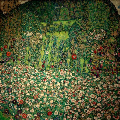 PARK LANDSCAPE WITH MOUNTAIN TOP - Gustav Klimt