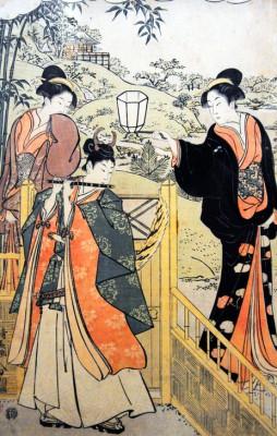 Parody of Lady Joruri and Ushiwakamaru - Torii Kiyonaga