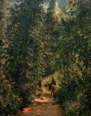 Path und the trees, in summer - Camille Pissarro