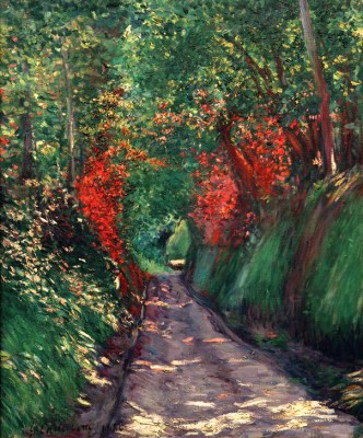 Path Under Trees - Gustave Caillebotte