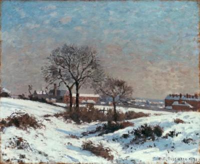 Paysage sous la Neige, Upper Norwood - Camille Pissarro