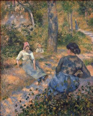 Peasant women resting - Camille Pissarro