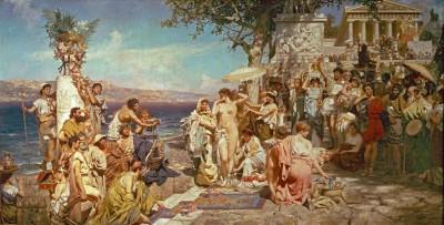 Phryne at the Feast of Poseidon in Eleusis - Henryk Siemiradzki