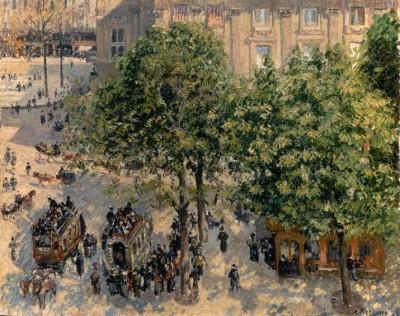 Place du Theatre Francais - Camille Pissarro