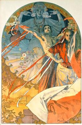 Plakat für das Sokol-Sportfest in der Tschechoslowakei 1925 - Alfons Mucha