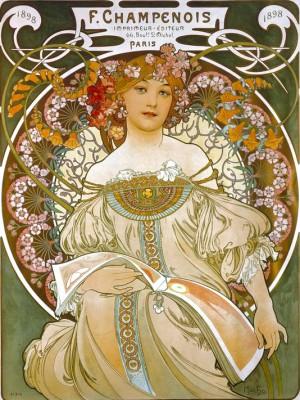 Plakat für den Drucker und Verleger F.Champenois - Alfons Mucha