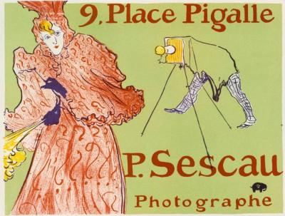 Plakat für den Photographen Paul Sescau - Henri de Toulouse-Lautrec