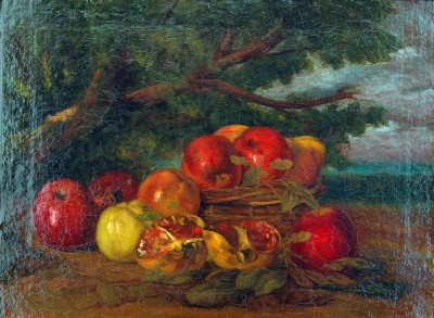 Pomegranates and pears - Gustave Courbet