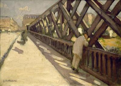 Pont de l'Europe, preliminary sketch - Gustave Caillebotte