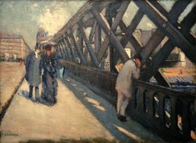 Pont de l'Europe, Study - Gustave Caillebotte