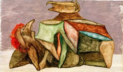 Pop und Lok im Kampf - Paul Klee