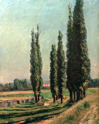 Poplars on the Dyke of Argenteuil near Petit Gennevilliers - Gustave Caillebotte
