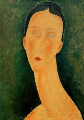 Porträt einer Frau (Lunia) - Amedeo Modigliani