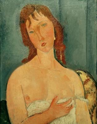 Porträt einer jungen Frau (2) - Amedeo Modigliani