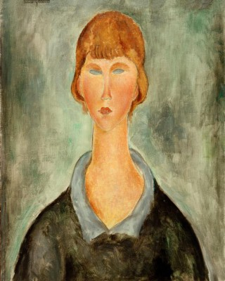 Porträt einer jungen Frau - Amedeo Modigliani