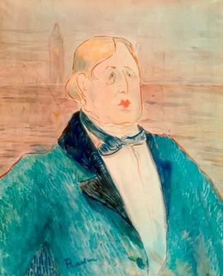 Porträt Oscar Wilde - Henri de Toulouse-Lautrec
