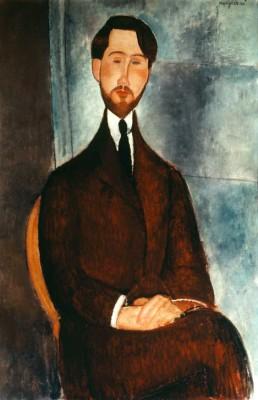 Portrait de Leopold Zborowski (2) - Amedeo Modigliani