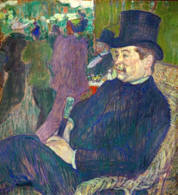 Portrait de M. Delaporte au Jardin de Paris - Henri de Toulouse-Lautrec