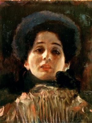PORTRAIT EN FACE - Gustav Klimt