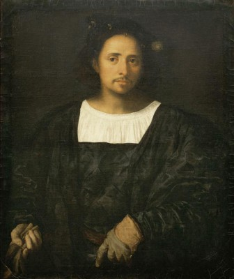Portrait of a man with glove - Tycjan