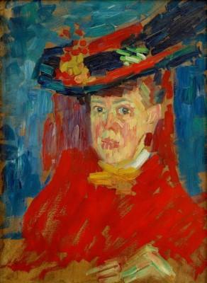 Portrait of Marianne of Werefkin - Alexei Jawlensky