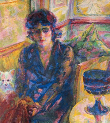 Portrait of Mrs. Cragnolini Fanna - Umberto Boccioni