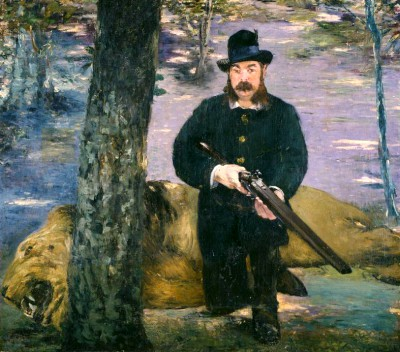 Portrait of the lion-hunter Pertuiset - Édouard Manet