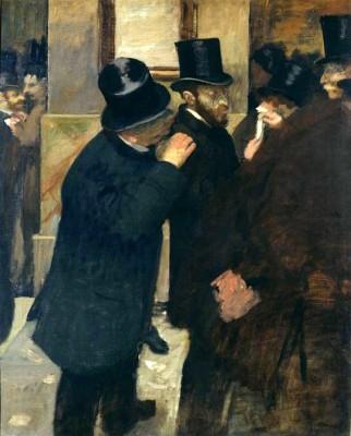 Portraits a la Bourse - Edgar Degas