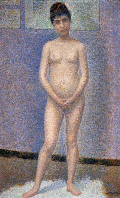 Poseuse de face - Georges-Pierre Seurat