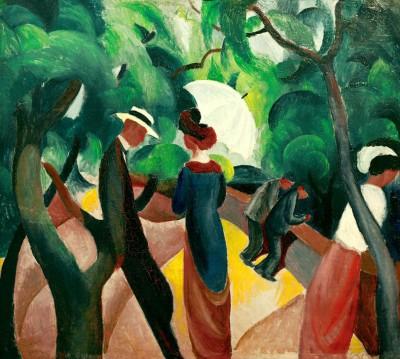 Promenade (2) - August Macke