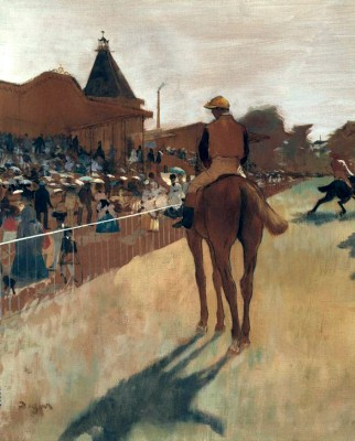 Racehoreses at the granstnd - Edgar Degas