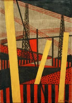 Radio and railway landscape - László Moholy-Nagy
