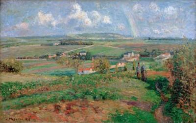 Rainbow, Pontoise - Camille Pissarro