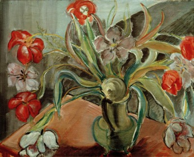 Red and white tulips - Alma del Banco
