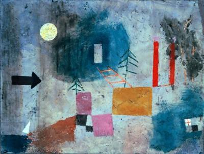 Red Columns passing - Paul Klee