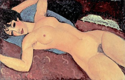 Red Nude - Amedeo Modigliani
