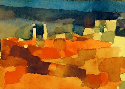 Referring to a sketch of Sidi Bou Said - Paul Klee