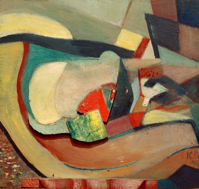 Relief with red foot - Kurt Schwitters
