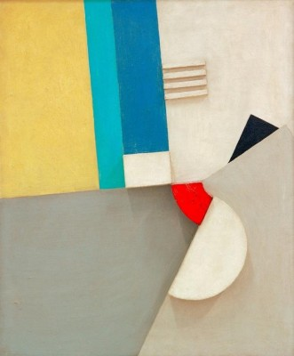 Relief with red segment - Kurt Schwitters